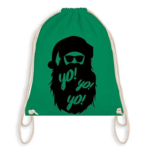 Weihnachten & Silvester - Yo Santa - Unisize - Grün - WM110 - Turnbeutel & Gym Bag