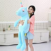 KMNHFGDB Plush Toy Unicorn Doll Mollusc Rainbow Doll To Give Children And Girls Holiday Birthday Present 85Cm C