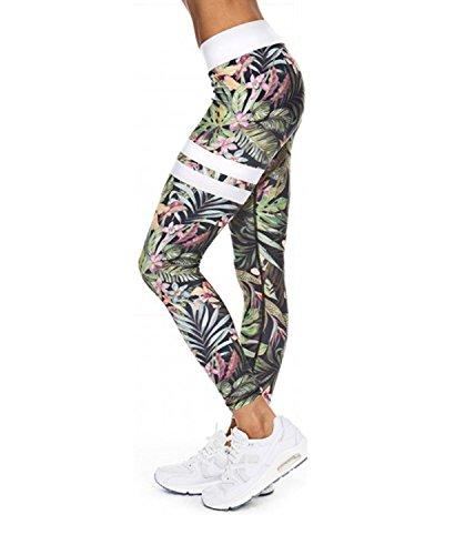 Mallas Deportivas Mujer Leggins Yoga Pantalon Elastico Cintura Altura Polainas para Running Pilates Fitness