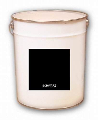 5 Liter schwarz Tiefschwarz Acryl Dachfarbe Dachanstrich Ziegelfarbe Dachbeschichtung Metalldach Blechdach Acrylat Basis