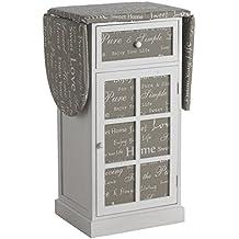 GEESE 7460 - Mueble planchadora de madera, 36 x 50 x 87 cm, color blanco