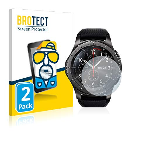 BROTECT Schutzfolie Matt kompatibel mit Samsung Gear S3 Frontier / S3 Classic [2er Pack] - Anti-Reflex