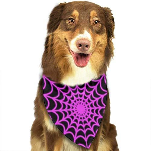 FGJGHKGH Halstuch, Halstuch, Halstuch, für Halloween, Spinnennetz, für Hunde und Katzen, Dreieckstuch