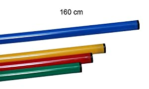 agility sport pour chiens - jalon, longueur 160 cm, Ø 25 mm, bleu - 1x 160b