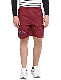 Wear Your Mind Maroon Polyester Shorts For Men WSR053.2_30