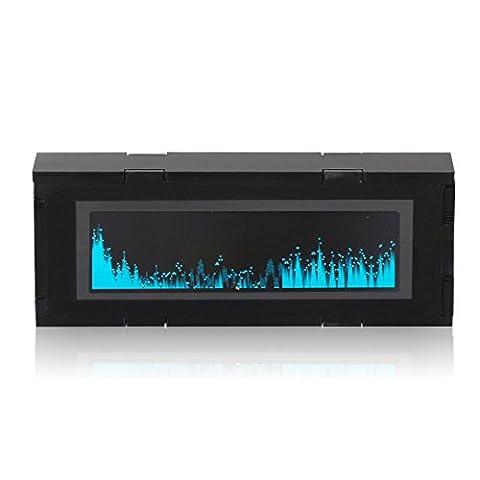 DROK® AS256 Musik Spectrum OLED-Display Car Audio Spectrum, populäre Gadgets für Musikinstrumente anzeigen Voll Band Spectrum & Electric Ebene, Elektronik DIY Kit mit Sensitive integriertem Mikrofon Geeignet für Musikfreunde Elektronische Fans