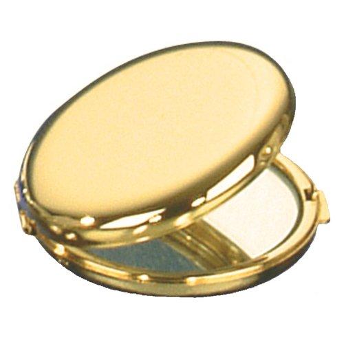 Plaqué or ronde Miroir à main