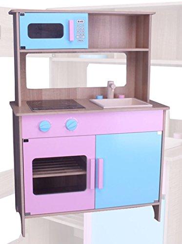 habeig® Kinderküche #783 Spielküche Küche Holzküche Kinder Holzspielzeug rosa blau