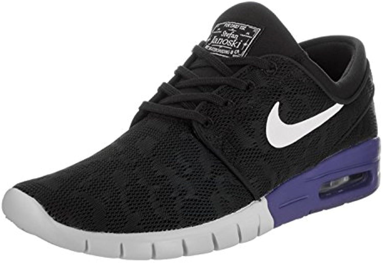 Nike Stefan Janoski Max Mens Sneakers, Negro/Blanco/Noche Profunda, 39 M EU/6 M UK
