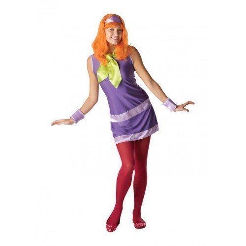 Daphne Perücke von Scooby-Doo 1960s Jahre 60s Jahre Kostüm Kleid Outfit UK 8-18 - Multi, Multi, 16-18 (Daphne-kostüm Für Erwachsene)