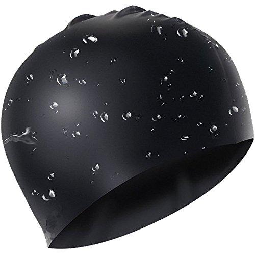 Avril tian cuffia da nuoto, impermeabile in silicone nuoto cappello capelli lunghi cappello unisex per donne e uomini per sport acquatici