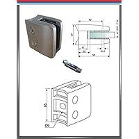 Pmc Acero Inoxidable V2A Pinza de soporte soporte de sujeción Cristal barandilla placa de seguridad