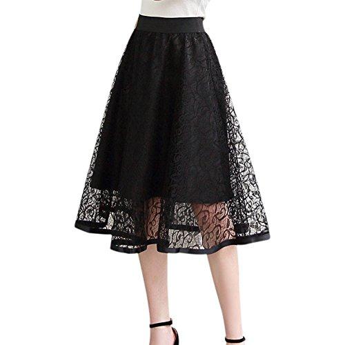 c040cdaa02c3bd Balai Femmes Jupe Mi-Longue pompom tutu jupe Taille Haut Élégant casual  robe en polyester Femme chic robe d'été multi-color