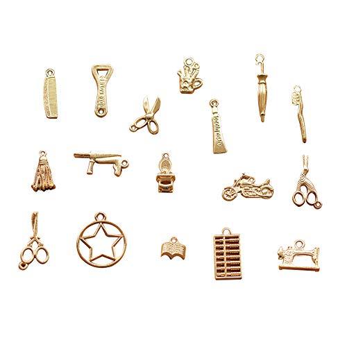 Demarkt Reißverschluss-Zuglaschen Ersatzreißverschluss Reparatur Pull Tab für Kleidung Koffer Rucksack DIY Craft (zufälliger Stil) 10 Stück - Zipper-pull-tabs