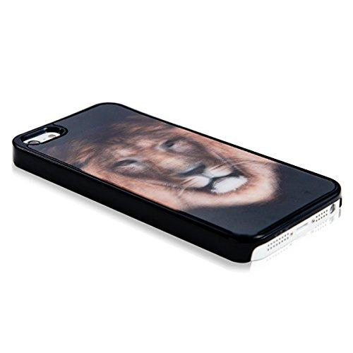 Lion Coque rigide 3D pour iPhone 5& 5S-Multicolor