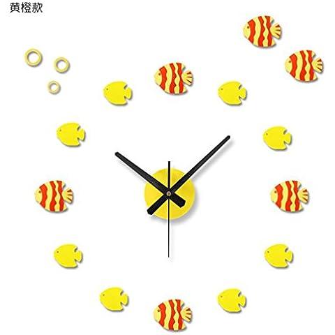 WANGXIAOJUAN pesce tropicale, orologio da parete YIRAN