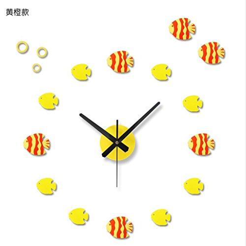 Pesci tropicali, orologio da parete