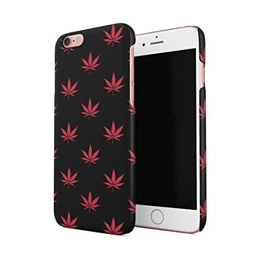 High Trippy Cannabis Leaves Pattern Dünne Rückschale aus Hartplastik für iPhone 6 & iPhone 6s Handy Hülle Schutzhülle Slim Fit Case cover Red Cannabis