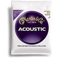 Martin 80/20 Bronze 3 jeux de cordes pour guitare folk Tirant custom light .011-.052 (Import Royaume Uni)