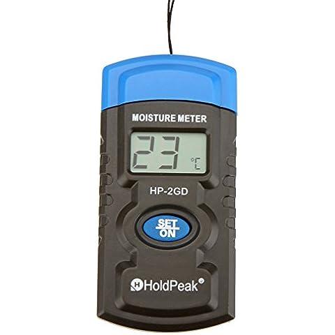 HoldPeak HP-2GD 3'' Mini LCD Tester di Umidità Moisture Meter 3-in-1 Humidity Meter
