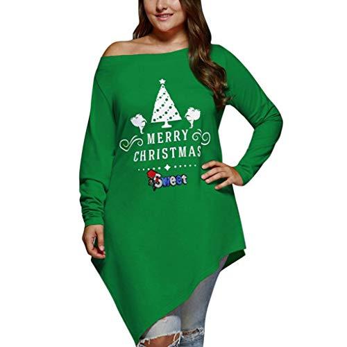 7a26381ff9a61c Invernale Maglione Donna,Babbo Natale Stampa Elegante Giacca Maglia Pizzo  Maglioni Piumino Cappotto Pelliccia Pullover