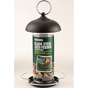 Gardman Black Steel Hanging Seed Feeder Garden Wild Birds  by OV