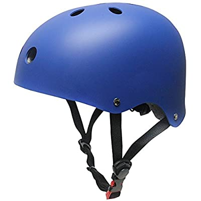 Skateboard Helmet, GIM Protective Helmet for Multi-Sports Skateboarding Scooter Roller Skate Inline Skating Cycling Bicycle BMX MTB Road Bike and Other Outdoor Sports by GIM
