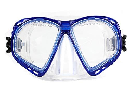 StrawBerrys Kurzsichtig Schnorchelmaske Taucherbrille Dioptrin Dioptrien Korrektur Tauchmaske für Erwachsene und Kinder mit Kurzsichtigkeit (N1, -3.0)