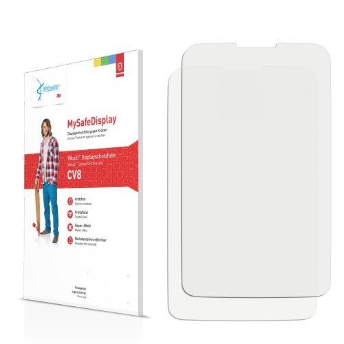 Vikuiti 2x Displayschutzfolie CV8 von 3M für Alcatel One Touch OT-988 Shockwave Schutzfolie Folie