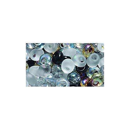 Miyuki Rocailles, 4 mm, Tropfenform, Magatama-Mix Kieselstein, 25 g pro Packung -