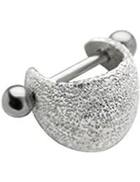 Ohr Piercing Tragus Ohrschmuck aus 925er Sterling Silber, inkl. 316L Edelstahl Barbell (Stift), Ohrpiercing - TIP182-B