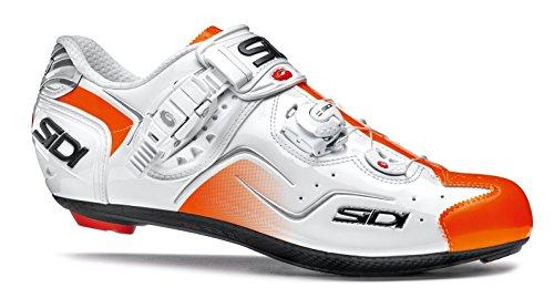 Chaussures route KAOS Cyclisme Sidi blanc/orange verni