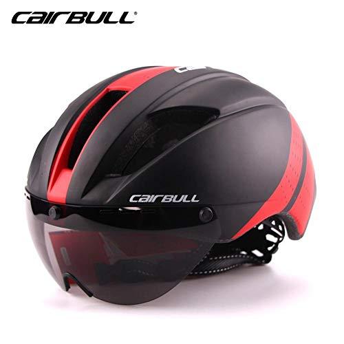 Stageonline cairbull adulto casco bici sicurezz cascos da ciclismo con visiera leggero caschi di mtb insetti-protettivo per regolabile taglia 54-58cm, 300g ultra-light con goggle