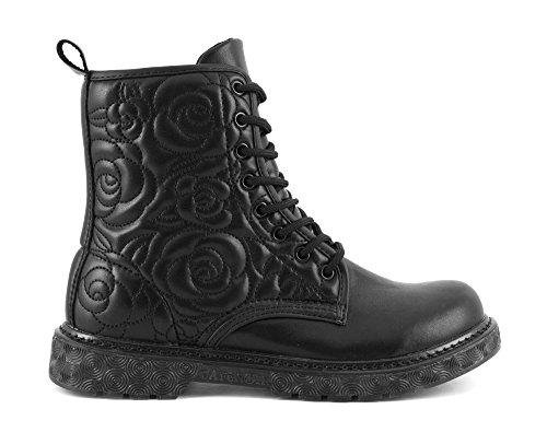 CafÈnoir Anfibi stivaletti nero scarpe donna FH901 36