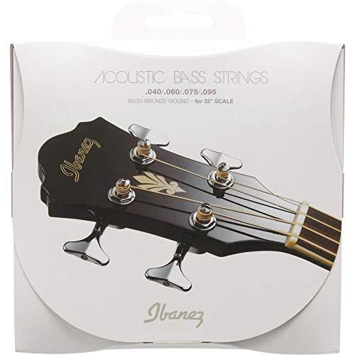 Ibanez IABS4C32 Akustik Bass Saite Satz (81,3 cm (32 Zoll) Scale, 80/20 Bronze, 040-095)