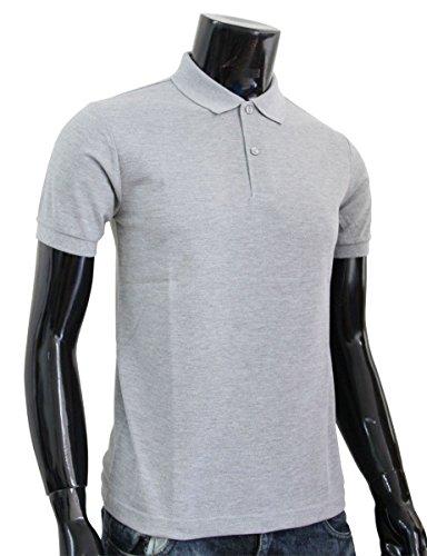 Bcpolo Männer Poloshirt Baumwollpikee beiläufige Kurzarm-Polo-Hemd Grau