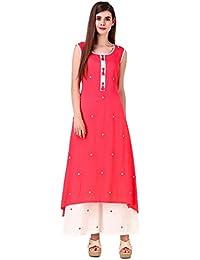 Sreshee Women's Cotton Kurti with Palazzos Set