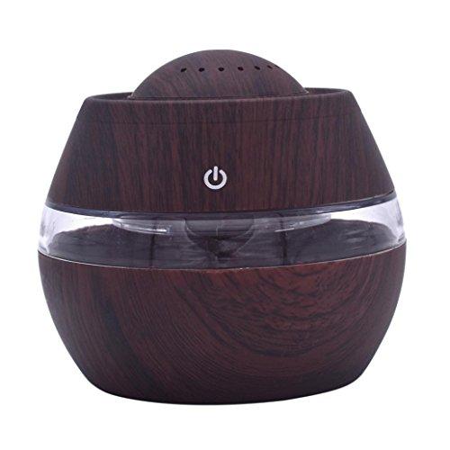 LED Ultraschall-Luftbefeuchter HARRYSTORE Air Aroma ätherisches Öl Diffusor LED Ultraschall Aroma Aromatherapie Luftbefeuchter (Braun) (Nebel-maschine Für Verkauf)