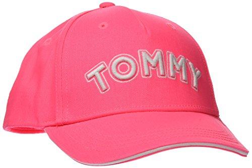 Tommy Hilfiger Baby Kappe Unisex Tommy Cap, (Neon Pink 645), S (Herstellergröße: S-M)