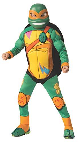 Turtles Michelangelo Teenage Deluxe Mutant Ninja Kostüm - Rise of TMNT Deluxe Michelangelo Child Costume Medium