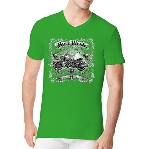 Biker Männer V-Neck Shirt - Bike Week - Gothic Chopper by Im-Shirt - Kelly Green XXL -