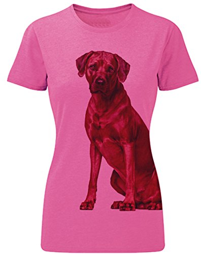 Siviwonder Women T-Shirt RHODESIAN RIDGEBACK Hund Sommershirt Hunde pink marl
