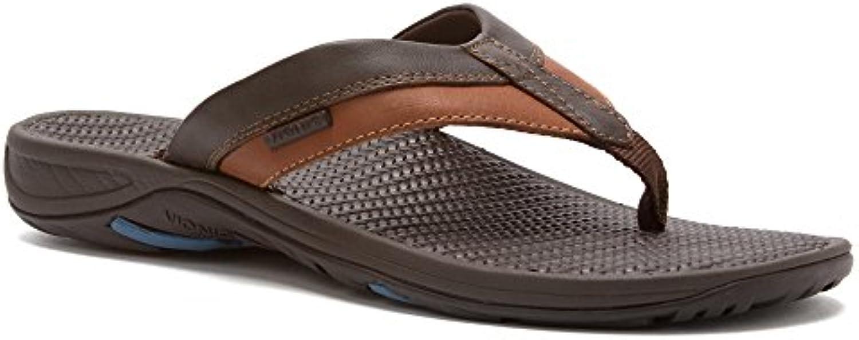 Vionic Joel   Mens Orthotic Sandals   Orthaheel Chocolate/Tan   7