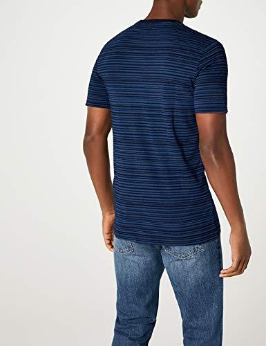 Levi's Herren T-Shirt SS Set-in Sunset Pocket, Blau (Minor Stripe Medium + Dark Indigo 0023), Large - 5