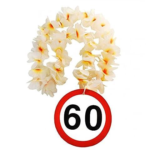 1 Geburtstag Hawai Kette 60 Jahre Party Deko