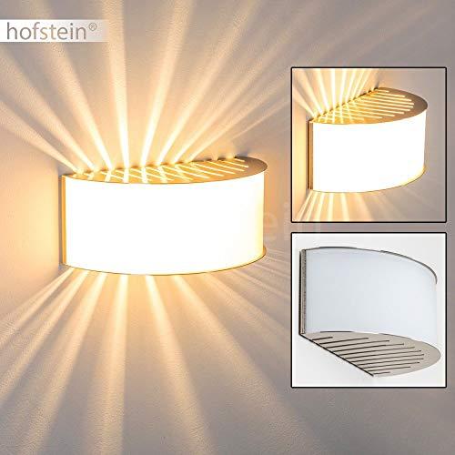 Lampada da parete pesaro in nichel opaco - applique design moderno con paralume bianco - e27 adatta a led - illuminazione pareti per corridoio scale camera da letto