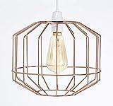 Abat-jour grande style rétro vintage, cage de fil, pour plafonnier existant ou chandelier, lampe sur pied ou lampe de table