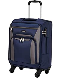 Amazon Brand - Solimo 56.5 cms Softsided Suitcase with Wheels, Blue