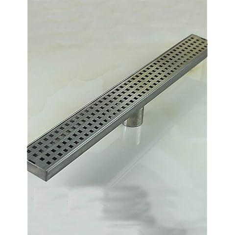 600mm níquel Acero Inoxidable baño cocina ducha Drenaje lineal de planta cuadrada