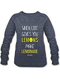 Spreadshirt Smiley World Limonade Life Gives You Lemons Sweat-Shirt Bio  Femme 7895dd3d3713